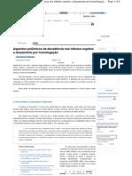 Aspectos polêmicos da decadência nos tributos sujeitos a lançamento por homologação - Revista Jus Navigandi - Doutrina e Peças