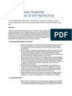 A Profile and Training Framework of Vip Protector