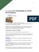 El origen de la Antropología