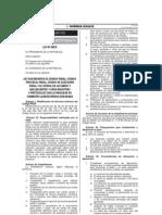 Ley 30076 - Modifica Codigo Penal, Cpp, c.ejecucion Penal, Para Combatir Inseguridad Ciudadana