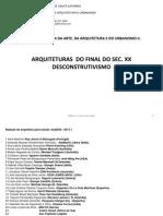 Arq5622- 9ª aula DESCONSTRUTIVISMO