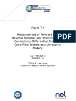 Measurement of Forward andReverse Natural Gas Flows in ClosedConduits by Differential PressureCone Flow Meters and UltrasonicMeters  - Asia Fow Measurement Workshop