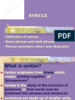 SYNTAX Lecture