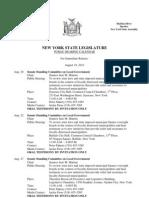 August 19, 2013 - Public Hearing Calendar