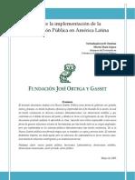 Nueva Gestion Publica en America Latina. Ortega y Gaz
