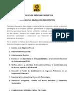 Ocho ejes de la propuesta de reforma energética del PRD