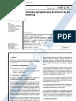 NBR 5741 - Extração e preparação de amostras de cimentos
