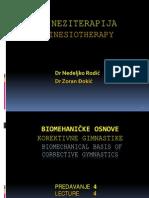 4 Kineziterapija - Biomehanicke Osnove Korektivne Gimnastike