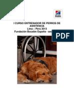 Curso Entrenador de Perros de Asistencia Lima 2013
