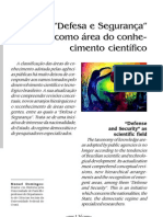Domingos Neto, 2006, Defesa e segurança como área de conhecimento científico