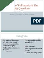 Schools of Philosophy & the Big Questions