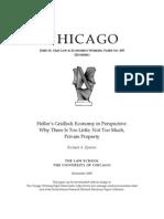 Epstein - Heller's Gridlock Economy in Perspective