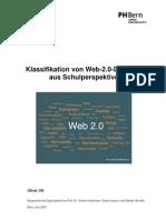 Klassifikation von Web-2.0-Diensten  aus Schulperspektive