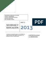 SOCIEDAD Y EDUCACIÓN-CONTEXTUALIZAR LA ENSEÑANZA