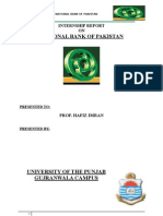 internship report of National bank of Pakistan