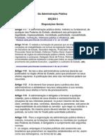 Da Administração PúblicaArtigos 111 a 116;
