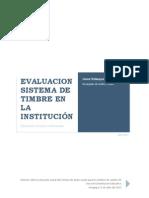 EVALUACION SISTEMA DE TIMBRE EN LA INSTITUCIÓN