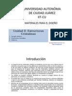 Microsoft PowerPoint - Unidad II Estructuras Cristalinas