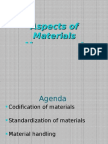 Aspects of Materials Management