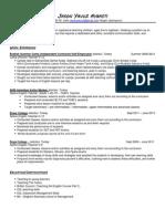 ESL Resume Sample
