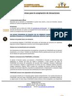 Manual de normas para la aceptación de donaciones