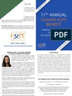 11th Annual Summer Hope Benefit Invite