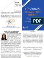 11th Annual Summer Hope Benefit