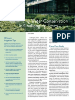 Water Conservation Advice