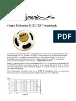 Altavoz Guitarra Celestion G12H-75 Creamback