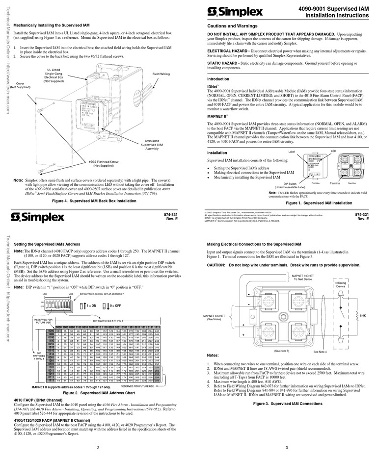 1512127931?v=1 4090 9001 supervised iam installation manual rev e electrical simplex 4020 wiring diagram at edmiracle.co