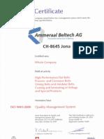 Ammeraal Certificado Iso 9001 2000