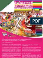 CONVOCATORIA PRIMERA FERIA ARTESANAL Y GASTRONÓMICA