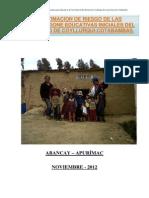 Informe de Estimacion de Riesgo de Las i.e.i.coyllurqui