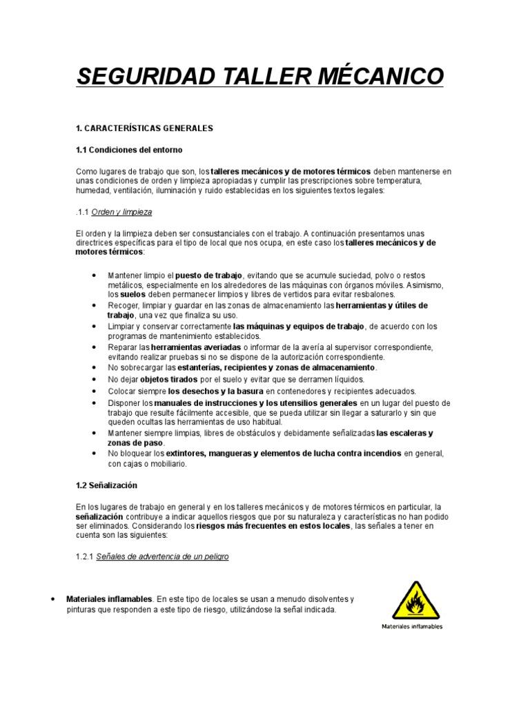 Seguridad Taller M 201 Canico