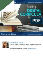 Making Digital Curricula Meaningful