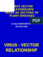 Virus Vector Relationship & Mites as Vectors of plant diseases