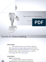 Basic Rules in Videomaking