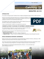 SEQ Catchments Catching Up Aboriginal Newsletter July 2013