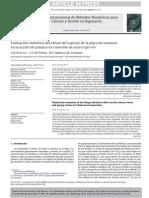 Evaluación numérica del efecto del espesor de la placa de contacto en la acción de palanca en conexión de acero tipo T