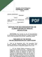 Arranguez vs Liston --- Mr or Clarification of Minute Resolution