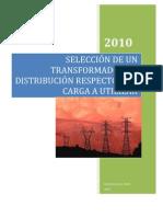 42279806 Seleccion de Un Transformador de Distribucion Respecto a La Carga a Utilizar