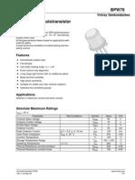 BPW76 Data Sheets
