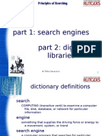 Search engines and digital libraries
