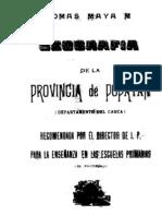 la geografía de popayán en 1908