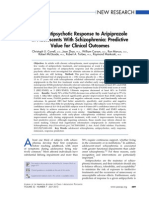 Early Antipsychotic Response to Aripiprazole in Adolescents With Schizophrenia