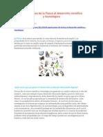Aportaciones de la Física al desarrollo científico y