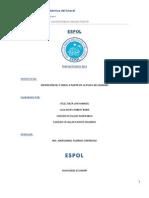 ESPOL. proyecto de la obtención de etanol de banano