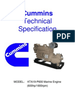 KTA19-P600 Spec.& Scope of Supply With Gearbox HC400