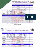 Horarios Primeros Agosto-Enero 2014