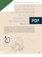 Víctor Molina - La actividad que permite el aprendizaje es acción acompañada de pensamiento